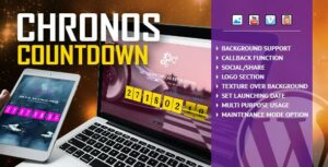 Chronos CountDown – Responsive Flip Timer With Image or Video Background – WordPress Plugin