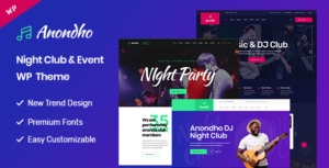 Anondho – Night Club & Event WordPress Theme
