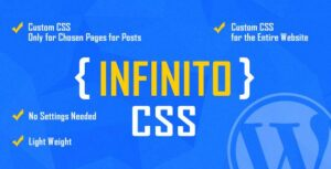 INFINITO – Custom CSS for Chosen Pages and Posts or for Entire Website – WordPress Plugin