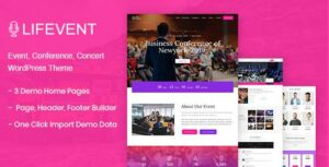 Lifevent – Conference WordPress Theme