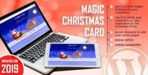 Magic Christmas Card With Animation – WordPress Plugin