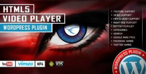HTML5 Video Player WordPress Plugin – YouTube/Vimeo/MP4 – Right Side and Bottom Playlist