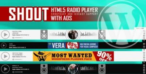 SHOUT – HTML5 Radio Player With Ads – ShoutCast and IceCast Support – WordPress Plugin