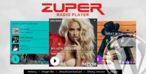Zuper – Shoutcast and Icecast Radio Player With History – WordPress Plugin