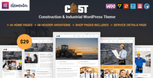 Cast – Construction & Industrial Responsive WordPress Theme