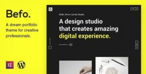 Befo – A Portfolio Theme for Creative People