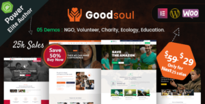 GoodSoul – Charity & Fundraising WordPress Theme