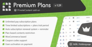 PrivateContent – Premium Plans add-on