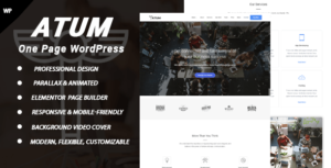 Atum – One Page WordPress