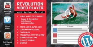 Revolution Video Player With Bottom Playlist WordPress Plugin – YouTube/Vimeo/Self-Hosted Support