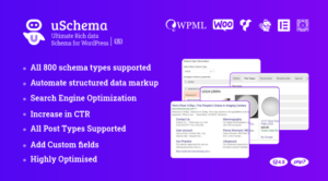 uSchema – Ultimate Rich Data Schema for WordPress