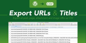 Export WordPress URLs & Titles