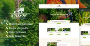 Buisson – Gardening & Landscaping Services WordPress Elementor Theme
