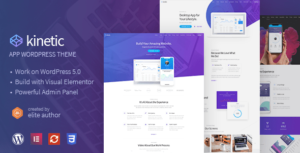 Kinetic – Desktop, Mobile & Product App WordPress Theme