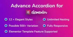 Advance Accordion for Elementor Page Builder
