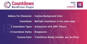 Countdown for Elementor WordPress Plugin