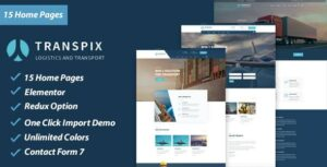 Transpix – Logistics Warehouse WordPress Theme