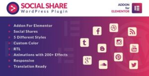 Social Share for Elementor WordPress Plugin