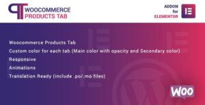 WooCommerce Products Tab for Elementor WordPress Plugin