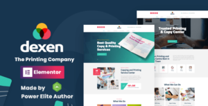 Dexen – Printing Company WordPress Theme