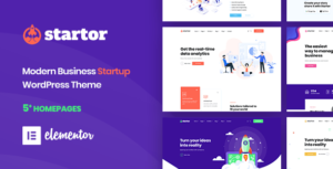 Startor – Modern Business Startup WordPress Theme