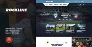 Rockline – Sport News and Club Elementor WordPress Theme