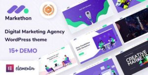 Markethon – SEO & Digital Marketing Agency Portfolio WordPress Elementor Theme