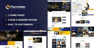 Facmaster – Factory & Industrial WordPress Elementor Theme