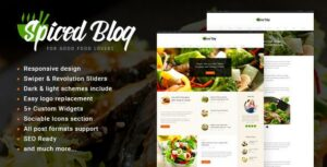 Spiced Blog – A Crisp Recipes & Food Personal Page WordPress Theme