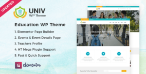 Univ – Education Elementor WordPress Theme