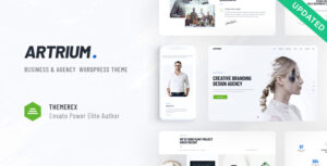 Artrium – Creative Agency & Web Studio WordPress Elementor Theme
