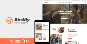 Birdily – Travel Agency & Tour Booking WordPress Elementor Theme
