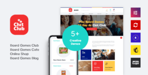 Chit Club – Board Games Club & Anticafe Elementor WordPress Theme