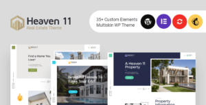 Heaven11 – Property & Apartment Real Estate WordPress Elementor Theme
