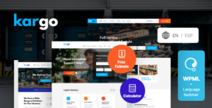 Kargo – Logistics & Transportation WordPress Elementor Theme