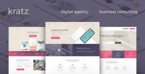 Kratz – Digital Agency Marketing and SEO WordPress Elementor Theme