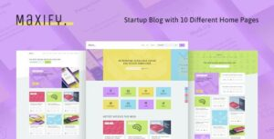 Maxify – Startup & Business News WordPress Elementor Blog Theme
