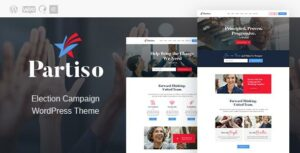 Partiso – Party & Candidate WordPress Elementor Theme