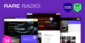 Rare Radio – Online Music Radio Station & Podcast WordPress Elementor Theme