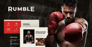 Read more about the article Rumble – Boxing & Mixed Martial Arts Fighting WordPress Elementor Theme