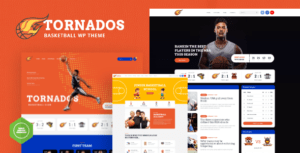 Tornados – Basketball NBA Team WordPress Elementor Theme