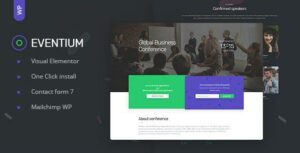 Eventium – Responsive Event WordPress Elementor Theme
