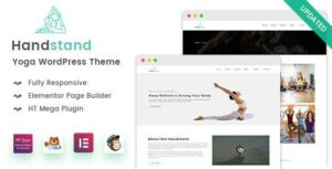 Handstand – Yoga WordPress Elementor Theme