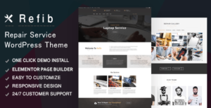 Refib – Digital Repair Service WordPress Elementor Theme