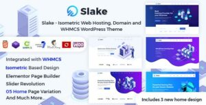 Slake – Isometric Web Hosting, Domain and WHMCS WordPress Elementor Theme