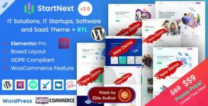 Read more about the article StartNext – IT & Business Startups WordPress Elementor Theme