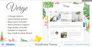 Verge – Easy Watercolor WordPress Elementor Theme