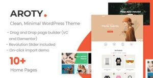 Aroty – Clean Minimal Shop WordPress WooCommerce Elementor Theme