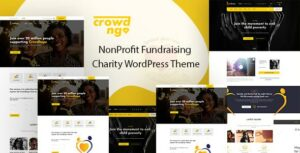 Crowdngo – Fundraising Charity WordPress Elementor Theme