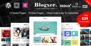 Bloxer – Blog & Magazine WordPress Elementor Theme